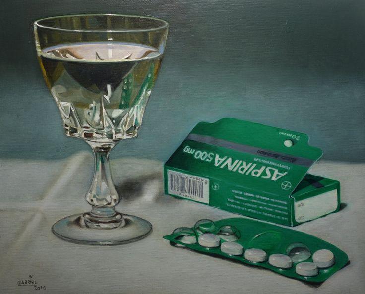 "Pintura al oleo ""Aspirina"""