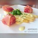 De Bonte Keuken Witte asperges met serranoham | De Bonte Keuken