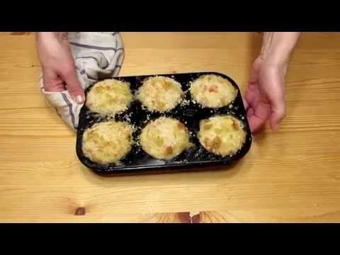 "Куриные маффины с овощами и моцареллой_""Muffins Chicken with vegetables and mozzarella"""