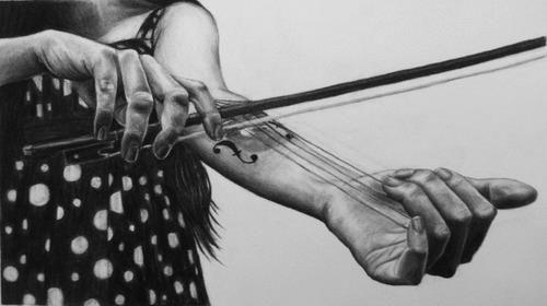violin tattoo - Google Search