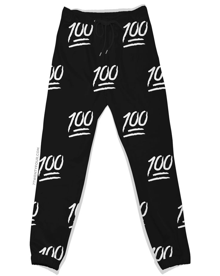 100 Emoji Joggers Black And Red Cheap Emoji Pants For Men: All The Way 100 Joggers In Emoji Style