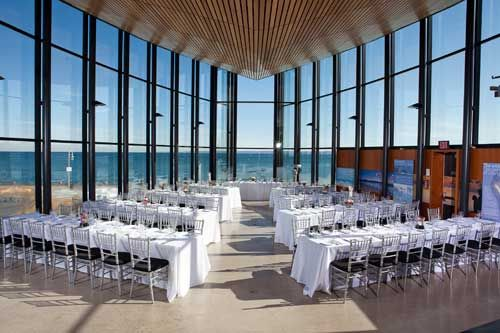 Spencer's at the Waterfront - Burlington, Ontario... What if we seated everyone for the ceremony.... at the reception tables....?