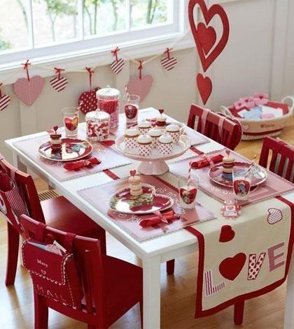 Mesa decorada para San Valentín - Ideas de decoración para San Valentín