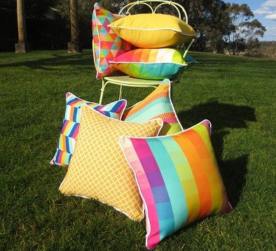 Bright funky cushions