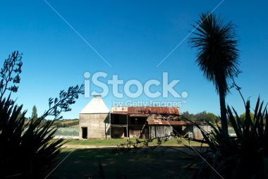 Old Hop Kiln, Moutere, New Zealand Royalty Free Stock Photo