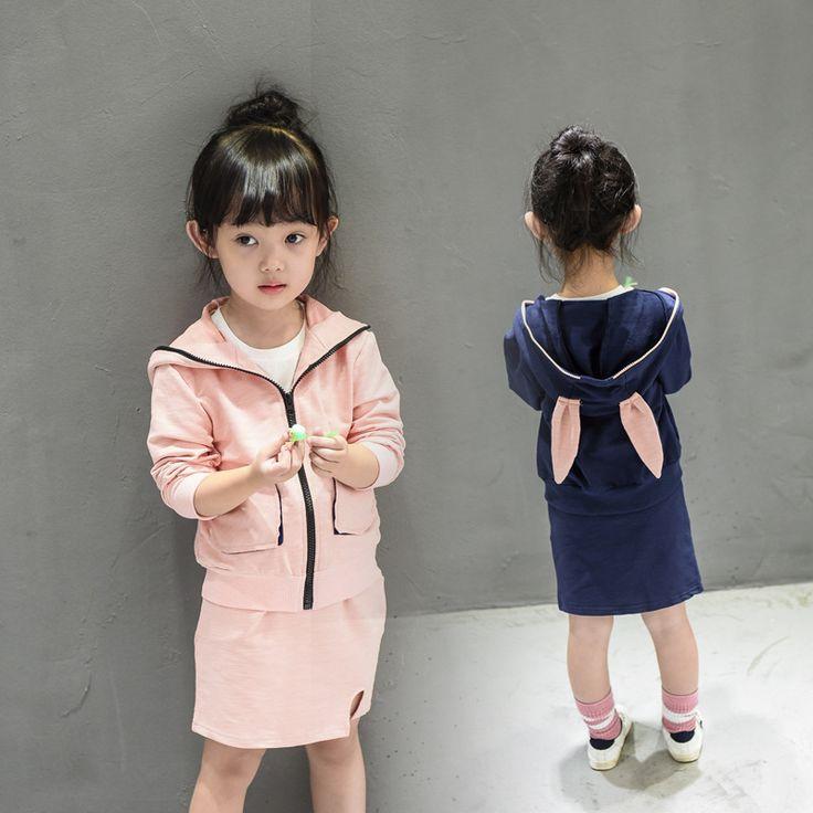 $16.00 (Buy here: https://alitems.com/g/1e8d114494ebda23ff8b16525dc3e8/?i=5&ulp=https%3A%2F%2Fwww.aliexpress.com%2Fitem%2FTeenage-Girls-clothing-set-autumn-girls-sport-suit-rabbit-coats-skirt-2pcs-Children-clothing-set-school%2F32722568571.html ) Teenage Girls clothing set autumn girls sport suit rabbit coats skirt 2pcs Children clothing set school girls kids tracksuit for just $16.00