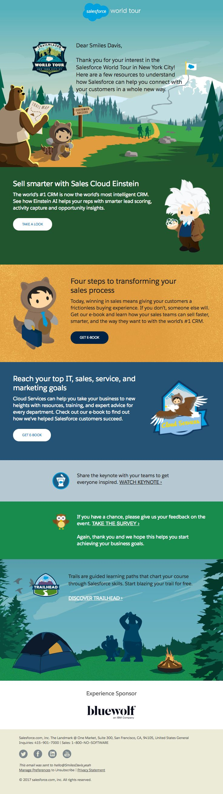 business meeting invitation email template%0A  salesforce sent this email with the subject line  Highlights from the  Salesforce World Tour