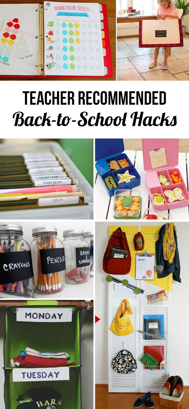 Back-to-school organization ideas from an elementary school teacher - LOVE all of these ideas, especially the backpack station and easy lunch organization!