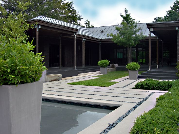 Exterior, Contemporary Design About Modern Landscape With Grey Floor Color  And Pebble Decor And Shipshape Part 84