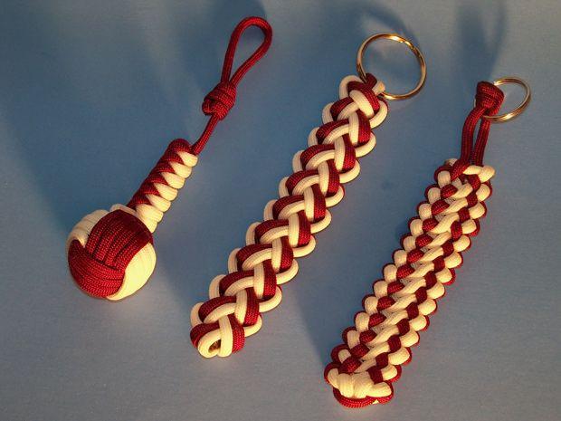 Unique Ropecraft: Unique Crimson Tide Paracord Gear. Website containing rope crafts. Interesting
