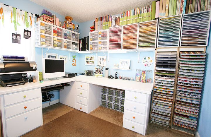 Love the paper storage Wow...that's an office!!!