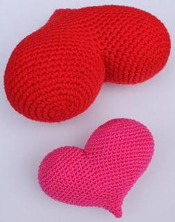 Amigurumi hart haken | draadenpapier | Gratis patroon naar MyGurumi #haken #hart #crochet #heart