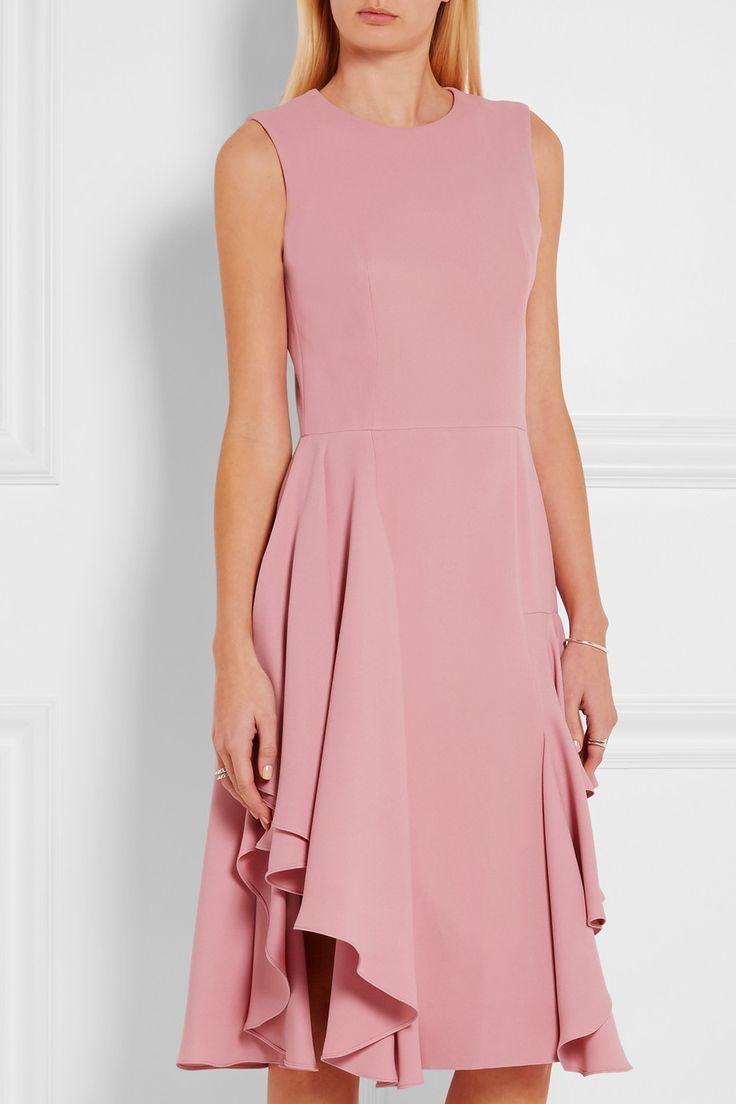 Alexander McQueen | Ruffled silk-crepe dress | NET-A-PORTER.COM