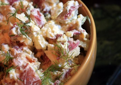 Red, white and blue potato salad..red potato & blue cheese make this a favorite of mine.