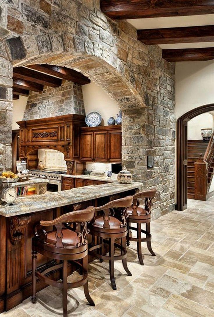 50+ Elegant Tuscan Kitchen Design Ideas kitchen  ...