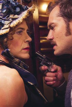 Robert Downey, Jr. and Jude Law in Sherlock Holmes: A Game of Shadows