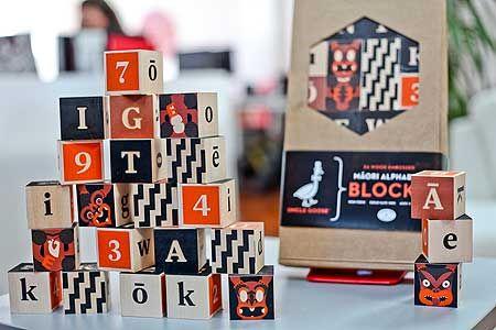 Māori alphabet blocks help build Te Reo - Massey University