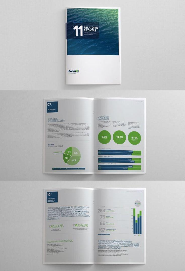 Caixa BI Annual Report Editorial Design