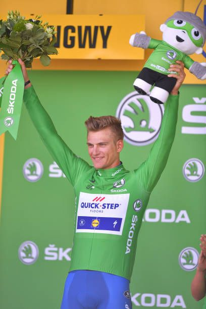 104th Tour de France 2017 / Stage 3 Podium / Marcel KITTEL Green Sprint Jersey Celebration / Verviers LongwyCote des Religieuses 379m / TDF/