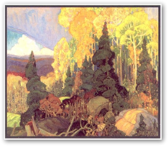 Franklin Carmichael  Autumn Hillside
