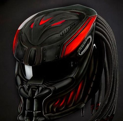 NEW ALIEN PREDATOR HELMET STREET FIGHTER STYLE DOT APPROVED