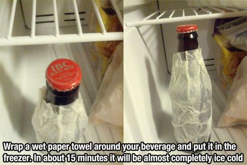 How to chill a bottle suuuuuuper fast