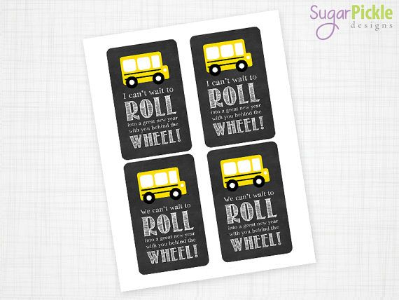 Bus Driver Appreciation Gift Tag, Bus Driver Gift Tag, Thank you Bus Driver, Bus Driver Printable, DIY Printable INSTANT DOWNLOAD