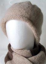 メリヤス編みのハット