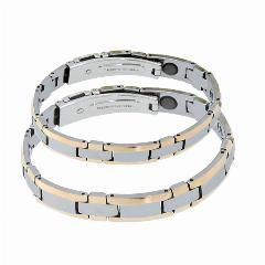 [ $25 OFF ] New Fashion Tungsten Pure Germanium Bracelets For Lovers Tungsten Steel Energy Balance Magnetic Health Healing Couple Jewelry