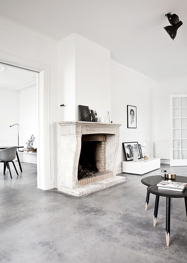 i just love the polished concrete floors and beautiful light in this villa on the outskirts
