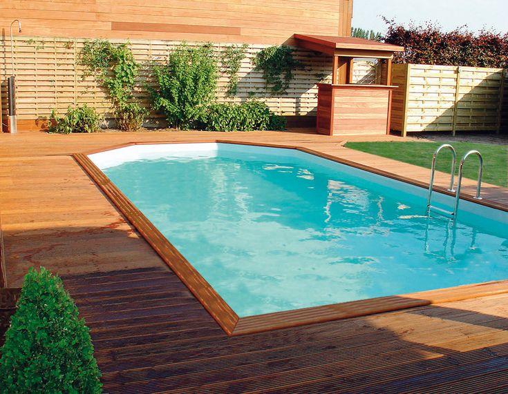 Terrasse bois et piscine bois Rectoo Gardipool | Manubricole.com