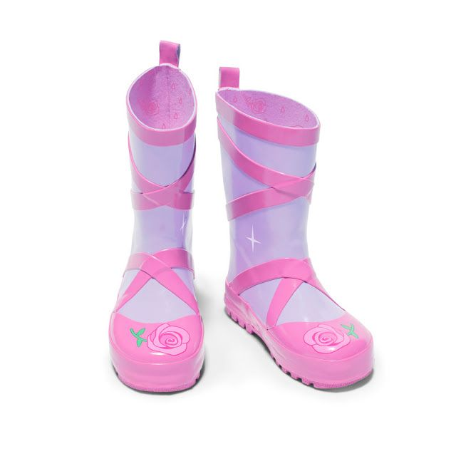 The Kidorable Ballerina rain boots are made from a natural rubber with a rubber tread to keep her steady on her feet.  They have a lightweight feel to them and they are very comfortable, so your child will be able to move freely without feeling weighted down by the boots.