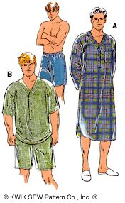 Purchase the Kwik Sew 2650 Men's Nightshirt sewing pattern and read its pattern reviews. Find other Mens - Sleepwear / Loungewear sewing patterns.