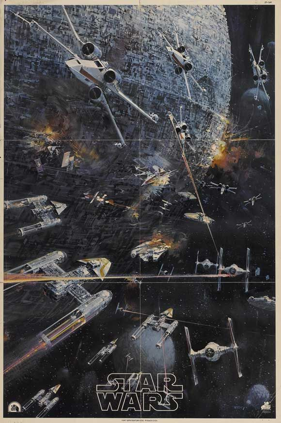 Star Wars (1977). John Berkey poster included in the Original Motion Picture Soundtrack Double-LP Album.