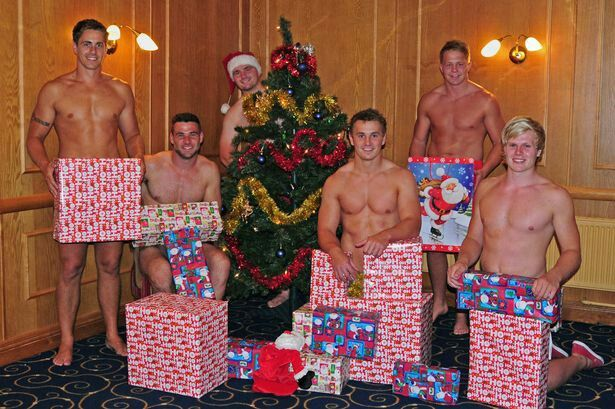 Welsh rugby players, among them Mike Phillips, Jonathan Davies and James Davies