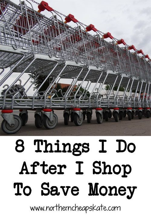 Simple things you can do after you get home from your shopping trip that can help you save money on your purchases.