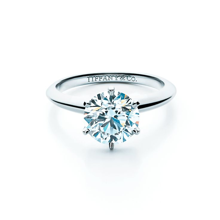The Tiffany® Setting with a diamond of legendary brilliance. #TiffanyPinterest #TiffanyWeddings #Ring