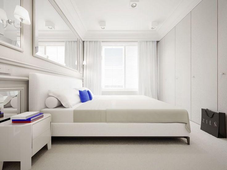 Projekt indywidualny Zień Home, wizualizacja apartamentu. Fajnie ukryta szafa.