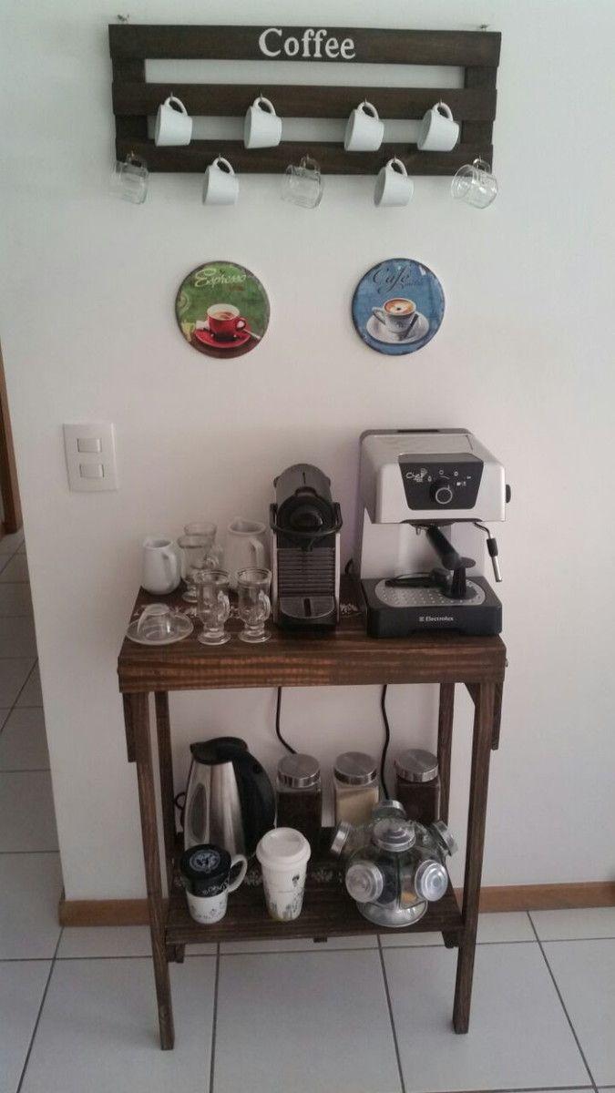 Aparador Rustico Coffee c/ Porta Xícara