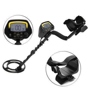 GC1032 LCD Display Waterproof Metal Detector Gold Coin Silver Digger with Folding Shovel