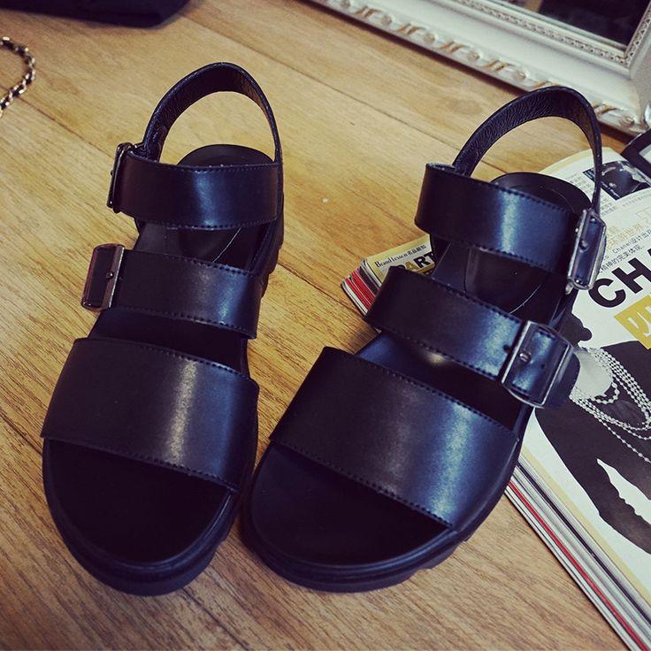 Trouver plus Sandales pour femmes Informations sur 2016 nouvelles femmes d'été sandales coins plate forme sandales femme Hit de la Mode femmes chaussures de style Romain sandales, de haute qualité plate-forme chaussures sexy, plate-forme de danse chaussures Chine Fournisseurs, pas cher plate-forme noir de Luoyilian sur Aliexpress.com