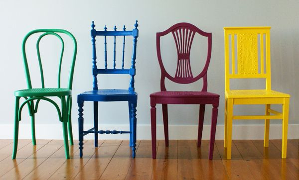 Vintage Color Chairs  Puracal