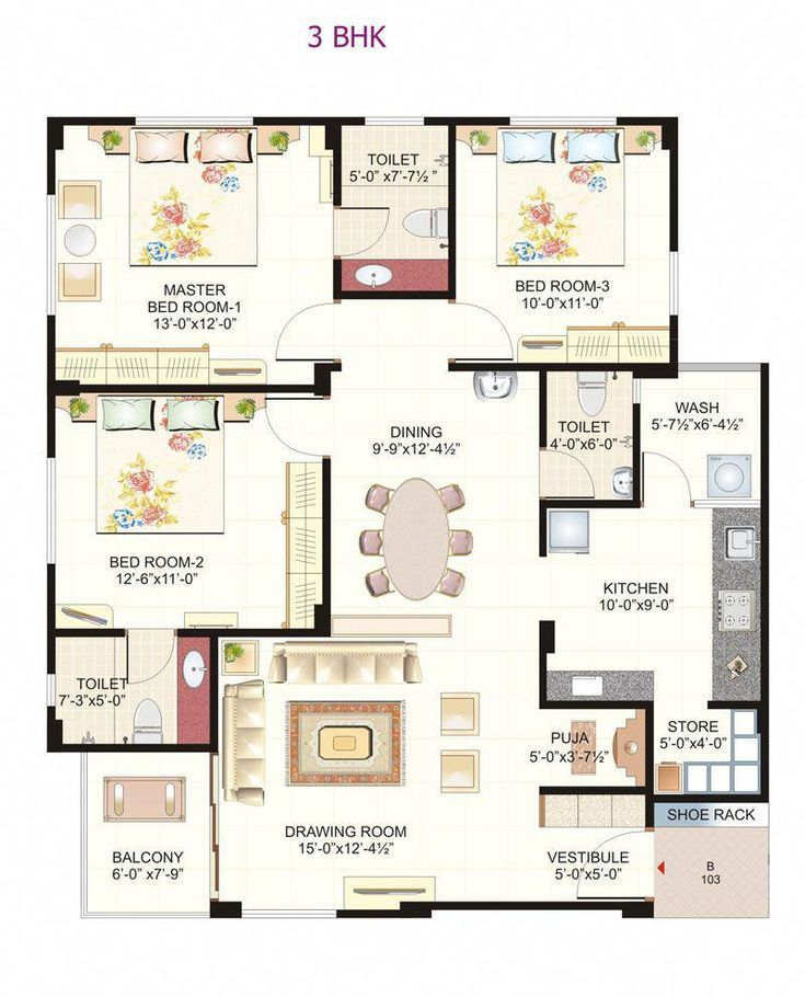 Small House Plans In India Indian House Plans 2bhk House Plan House Layout Plans