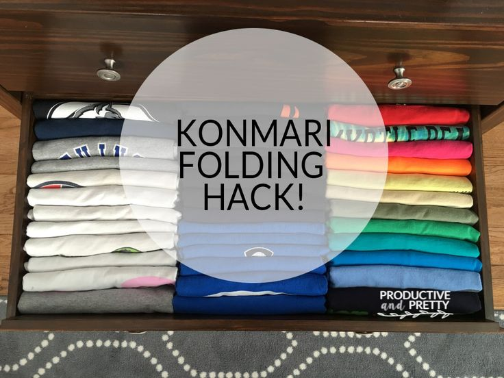 Konmari Folding Hacks - How to fold shirts
