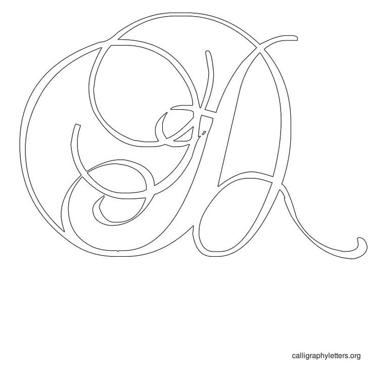 Printable monogram letter stencils imgkid the