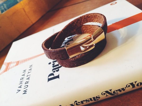 Leather cuff diy