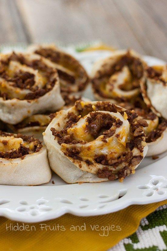 Vegetarian Taco Pinwheels | Beyond Beef