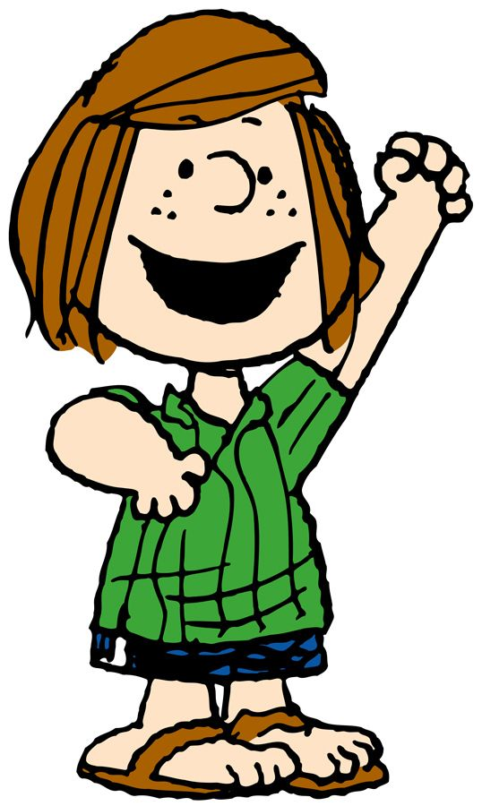 "Patricia Reichardt aka ""Peppermint Patty"" ""Peppermint Patty, the tomboy, is forthright, doggedly loyal, with a devastating singleness of purpose, the part of us that goes through life with blinders on."""
