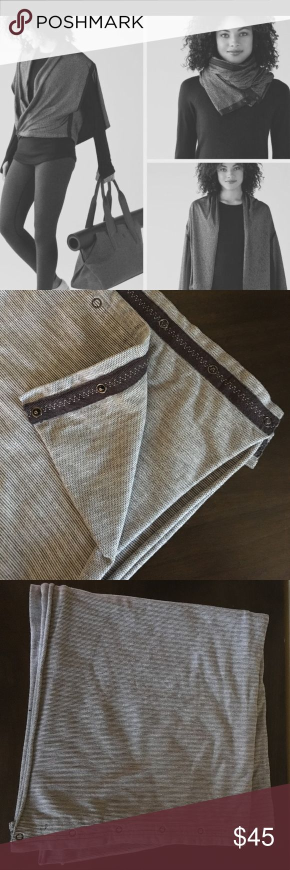 Reversible*lululemon athletica Vinyasa Scarf Perfect condition. Vintage reversible grey patterns. Smoke-free and pet-free home!  *Bundle with other items for a discount! lululemon athletica Accessories Scarves & Wraps