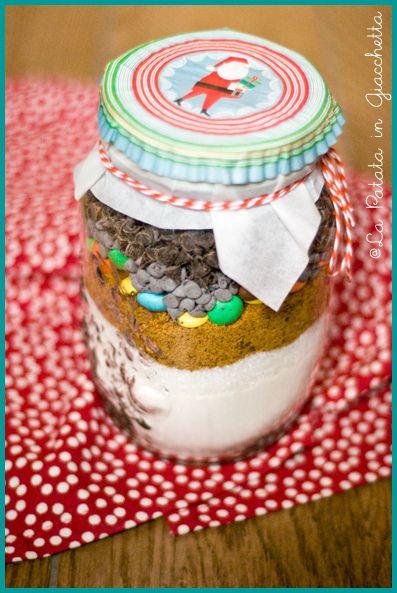 Preparato per biscotti (cookies in a jar) #christmasgift #lapatataingiacchetta